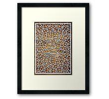 Greenman - natural Framed Print