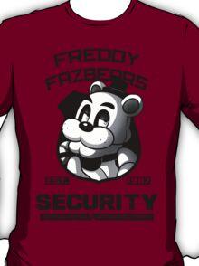 Freddy Fazbear's Security BLACK AND WHITE T-Shirt