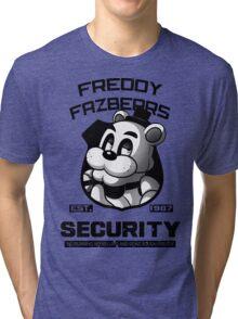 Freddy Fazbear's Security BLACK AND WHITE Tri-blend T-Shirt