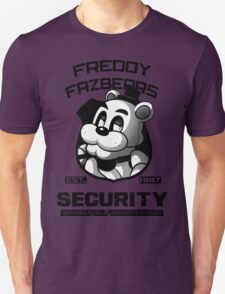 Freddy Fazbear's Security BLACK AND WHITE T-Shirt