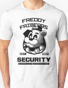 Freddy Fazbear's Security BLACK AND WHITE Unisex T-Shirt