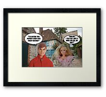Period Features! Framed Print
