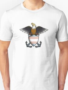 American Traditional Trans Pride Eagle  Unisex T-Shirt