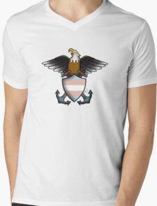 American Traditional Trans Pride Eagle  Mens V-Neck T-Shirt