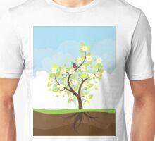 Stylized Spring Tree Unisex T-Shirt