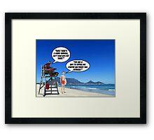 Shark Warning 2 Framed Print