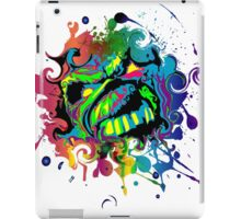 VIBRANT ABSTRACT ZOMBIE - large design iPad Case/Skin