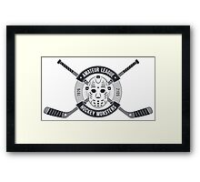 T-shirt for hockey Framed Print