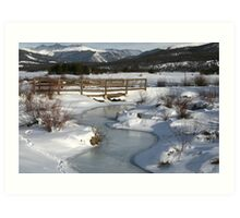 Winter in Colorado Art Print