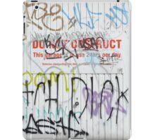 Stokes Croft Flower Tags iPad Case/Skin