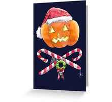Pumpkin Santa Greeting Card