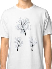 Trees with Snowflakes Classic T-Shirt