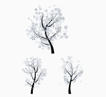 Trees with Snowflakes Unisex T-Shirt