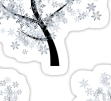 Trees with Snowflakes Sticker
