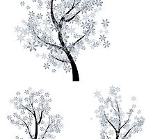 Trees with Snowflakes by AnnArtshock