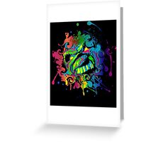 VIBRANT ABSTRACT ZOMBIE - small design Greeting Card