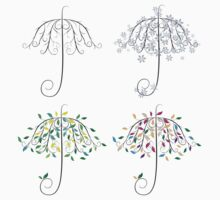 Umbrella Shape Tree One Piece - Short Sleeve