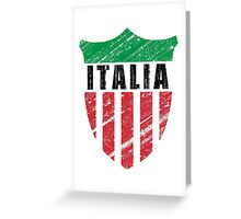 Vintage Italy Emblem Greeting Card