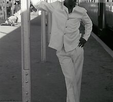 Man on Mombasa Station by Flo Smith