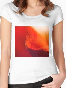 Defocused Red 2 Women's Fitted Scoop T-Shirt