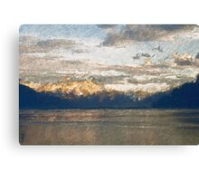 Yet another Lake Geneva and alps landscape. Canvas Print