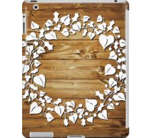 Holly and Ivy  - natural iPad Case/Skin