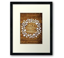 Holly and Ivy  - natural Framed Print