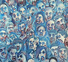 Blue Zombie Horde by Kyleacharisse