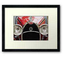 Red Bugatti Grille Framed Print
