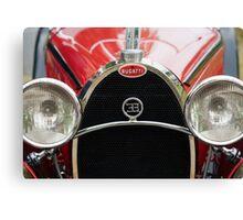 Red Bugatti Grille Canvas Print