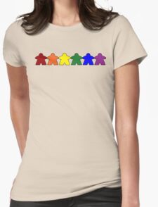 Gay Pride (Minimal Meeple Edition) Womens Fitted T-Shirt