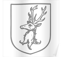 A Complete Guide to Heraldry - Figure 386 — Stag's head erased Poster