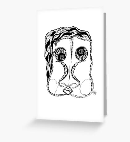 BUBBLE GUM TWO Greeting Card