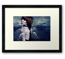 Caught up in regrets Framed Print