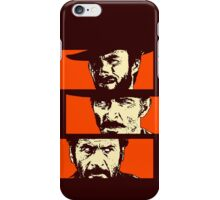Blondie, Angel Eyes, Tuco iPhone Case/Skin