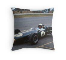 Jack Brabham, Sandown Park, Melbourne. 1965 Throw Pillow