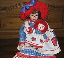 Raggeddy Ann And Doll by Linda Miller Gesualdo