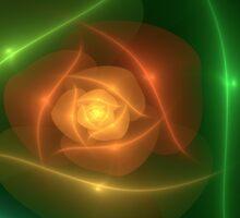 Orange Rose by delasel