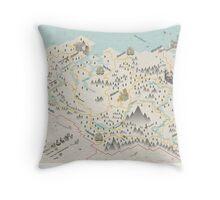 Skyrim Map Throw Pillow