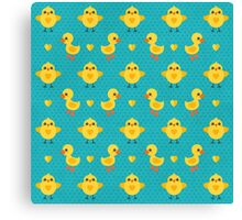 Chicks and Ducklings Canvas Print