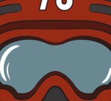 Racing helmets in old-school style Sticker