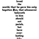 JOHN 3:16 cross by Calgacus