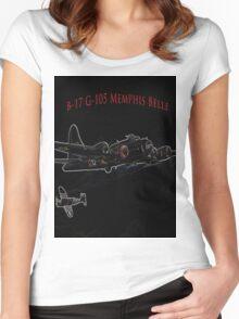 Memphis Belle T-Shirt Women's Fitted Scoop T-Shirt