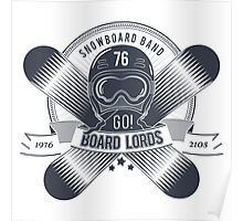 Snowboard logo for t-shirt Poster