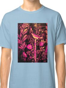 POMPEII COLLECTION NIGHTINGALE WITH PINK ROSES Classic T-Shirt