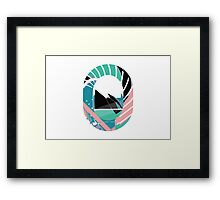 Vector pattern-rounded Framed Print