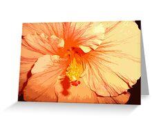 Tropicana Orange Hibiscus Greeting Card
