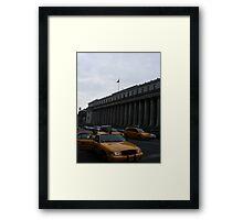 Hey Taxi! Framed Print