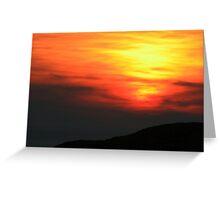 Sunset  Stoer Greeting Card