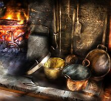 Colonial Kitchen pots by Mike  Savad
